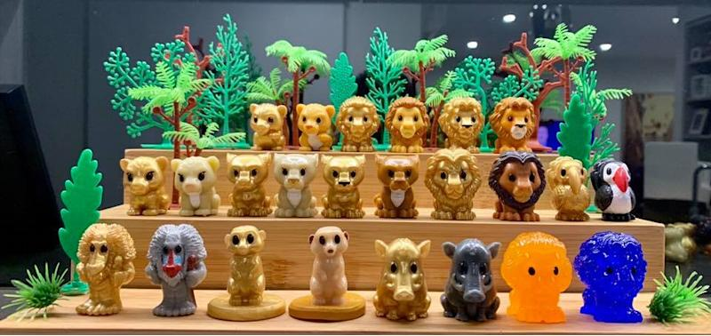 A photo of a completed Lion King Ooshies collection.
