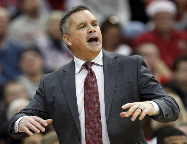 Ohio State coach Chris Holtmann has guided his team to an improbable second-place finish in the Big Ten. (AP)