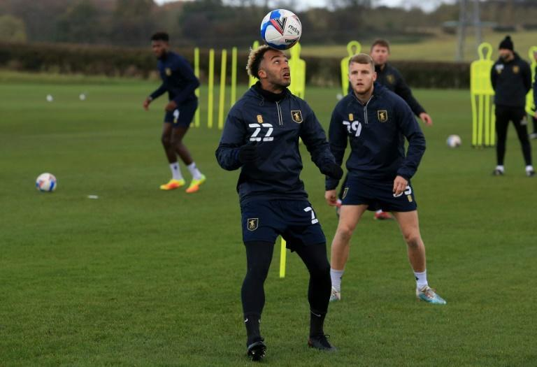 Mansfield Town players are put through their paces at their training ground