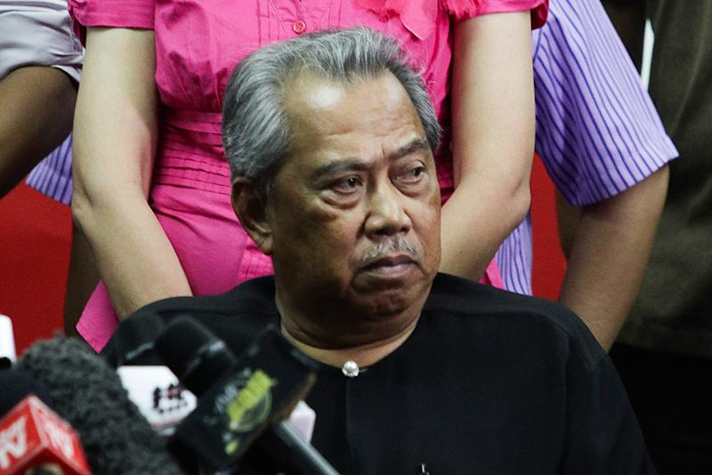 Newly appointed Home Affairs Minister Tan Sri Muhyiddin Yassin at a press conference in Petaling Jaya May 12, 2018. — Picture by Miera Zulyana