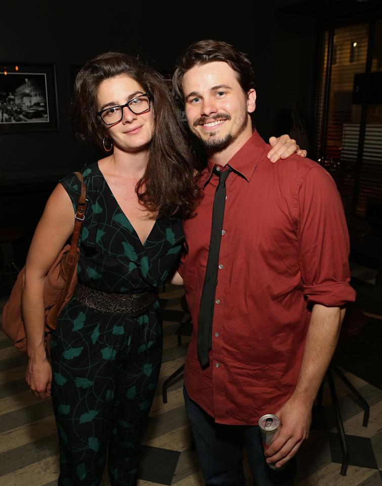 HOLLYWOOD, CA - OCTOBER 02: Actors Gaby Hoffmann and Jason Ritter attend the Los Angeles premiere of 'Nobody Walks' after party at Wood & Vine on October 2, 2012 in Hollywood, California.  (Photo by Jesse Grant/WireImage)