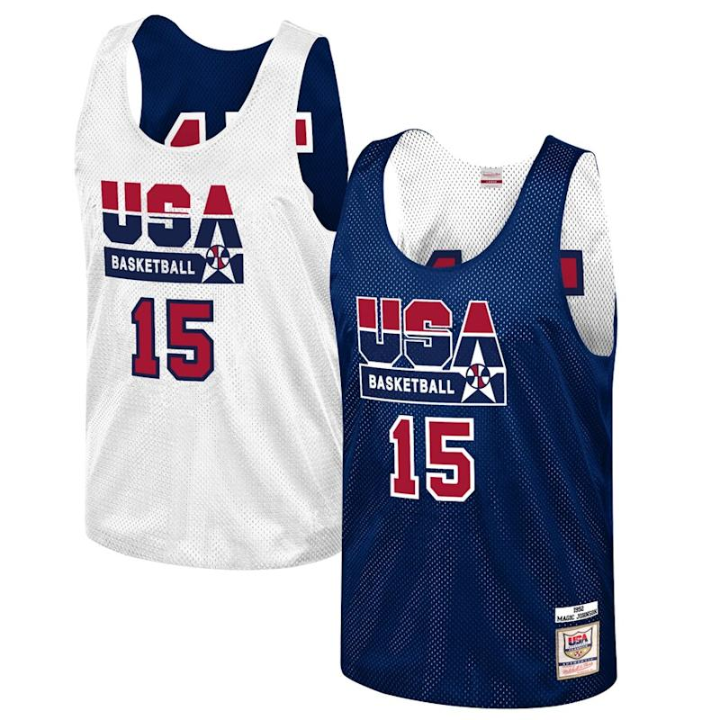Magic Johnson USA Basketball Training 1992 Dream Team Authentic Reversible Practice Jersey