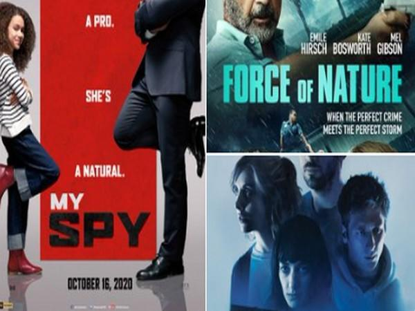 Posters of Hollywood films 'My Spy,' 'Force of Nature,' 'The Rental,' (Image Source: Twitter)