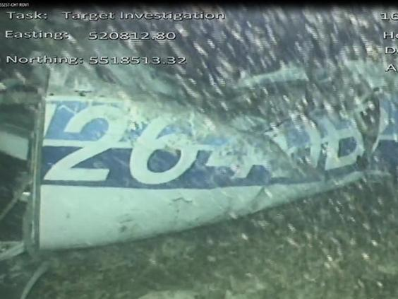 An underwater image shows one side of the wreckage (PA)