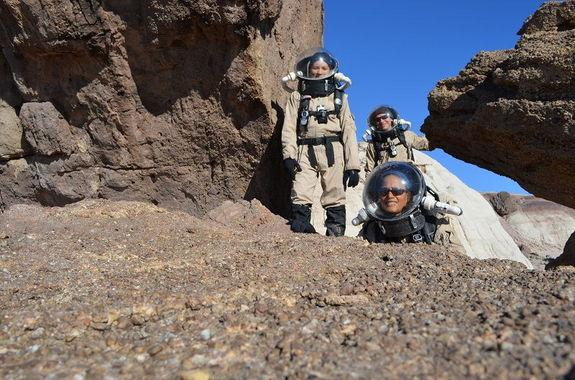 Astronauts exploring an alien world will depend on each other for their safety and comfort.