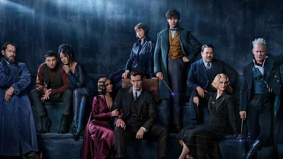The cast of 'Fantastic Beasts: The Crimes of Grindelwald'. (Credit: Warner Bros)