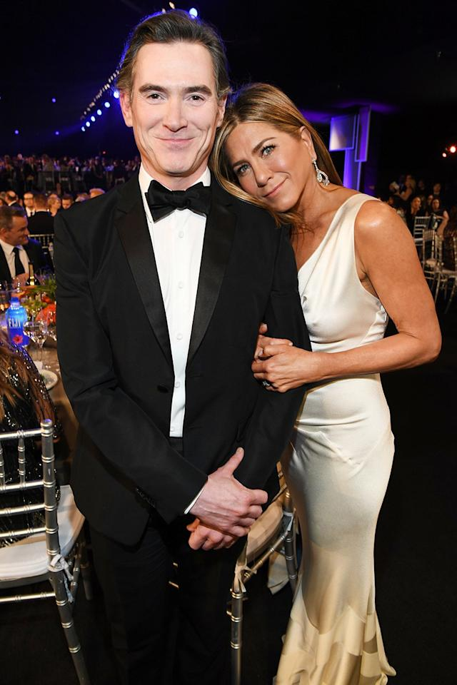 They may play frenemies onscreen, but Billy Crudup and Jennifer Aniston are getting along fine at the 2020 SAG Awards.