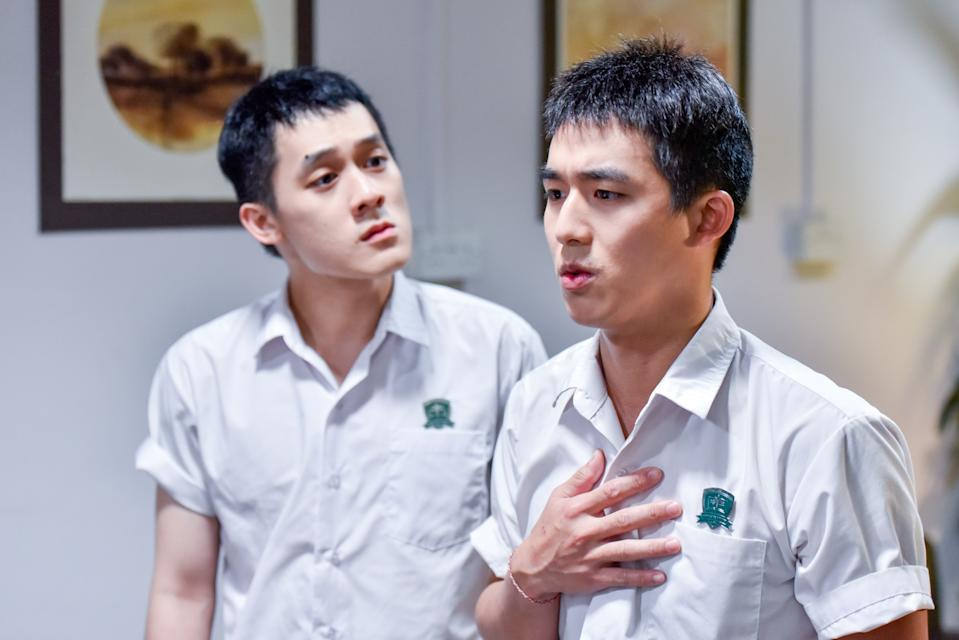 Richie Koh (left) and Danny Lee in Jack Neo's The Diam Diam Era. (Photo: mm2 Entertainment)