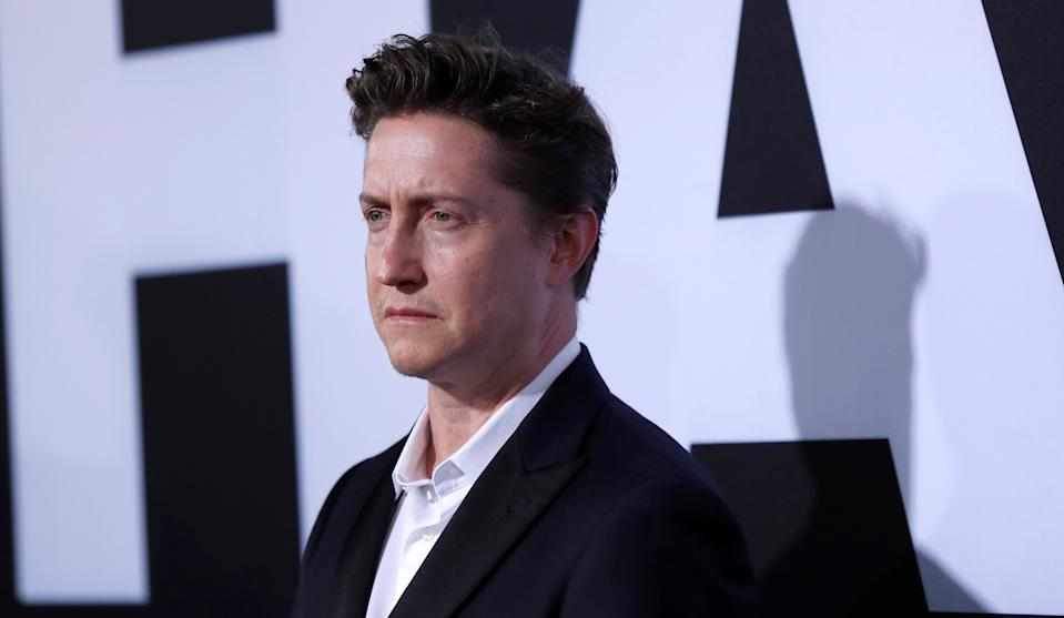 """Director David Gordon Green poses at a premiere for the movie """"Halloween"""" in Los Angeles, California, U.S., October 17, 2018. REUTERS/Mario Anzuoni"""