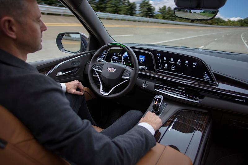 Cadillac's Super Cruise technology gets revamped in the 2021 Escalade, out this year, including automatic lane changes and more. Unlike Tesla's Autopilot, it doesn't require you to keep your hands on the wheel, but you have to look at the road.