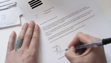 AS Writing Notification of Resignation