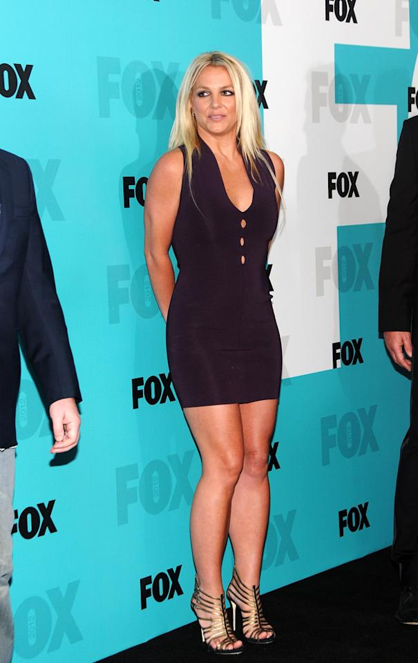 "Britney Spears (""X Factor"") attends the Fox 2012 Upfronts Post-Show Party on May 14, 2012 in New York City."