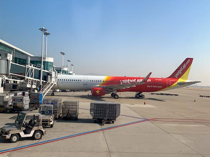 A Vietjet Air flight at Seoul's Incheon International Airport.
