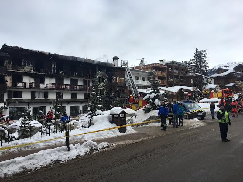 Around 70 firefighters put out the blaze in Courchevel (AFP Photo/Fanny HARDY)