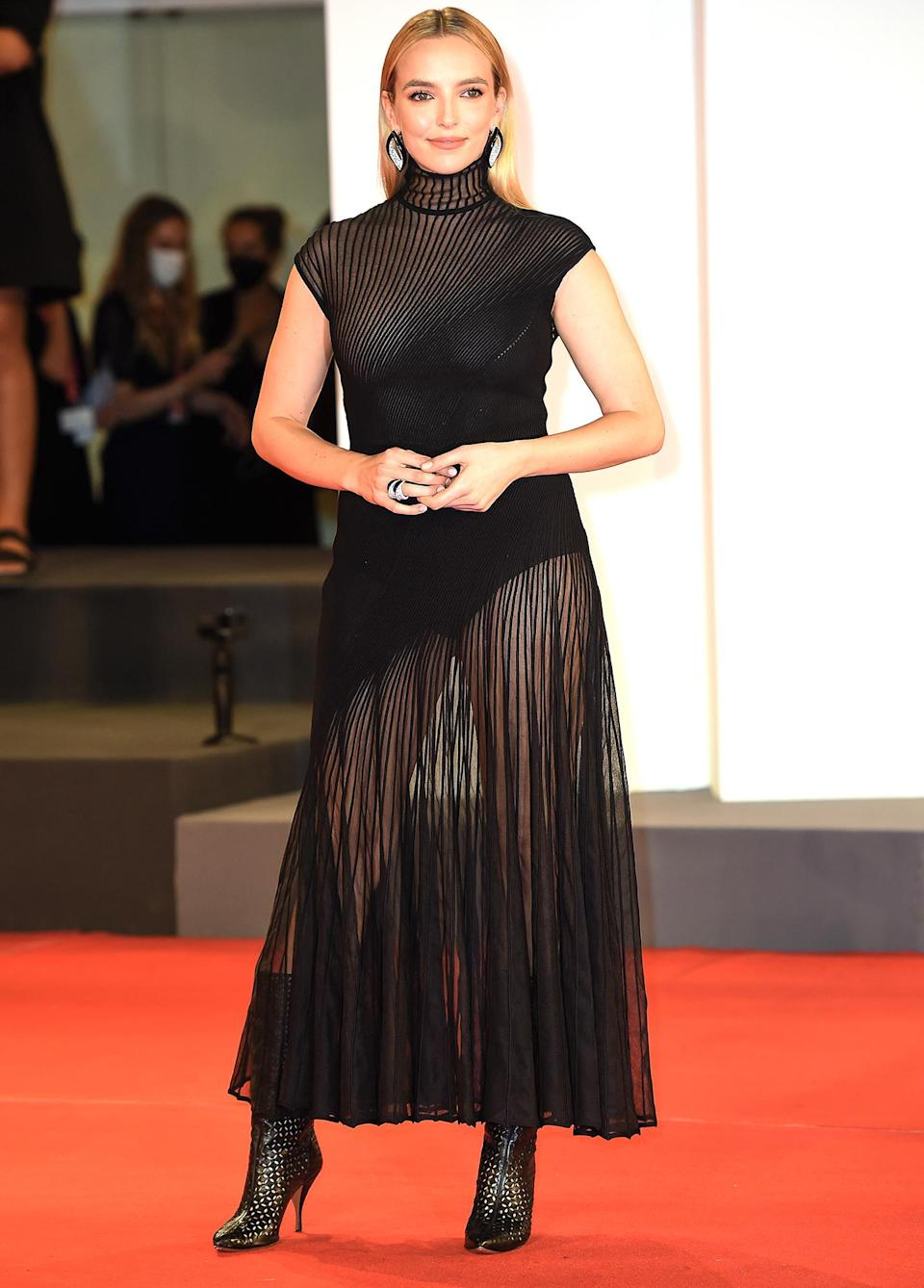 <p>Jodie Comer attends the red carpet premiere of the movie <em>The Last Duel</em> during the 78th Venice International Film Festival on Sept. 10 in Italy. </p>