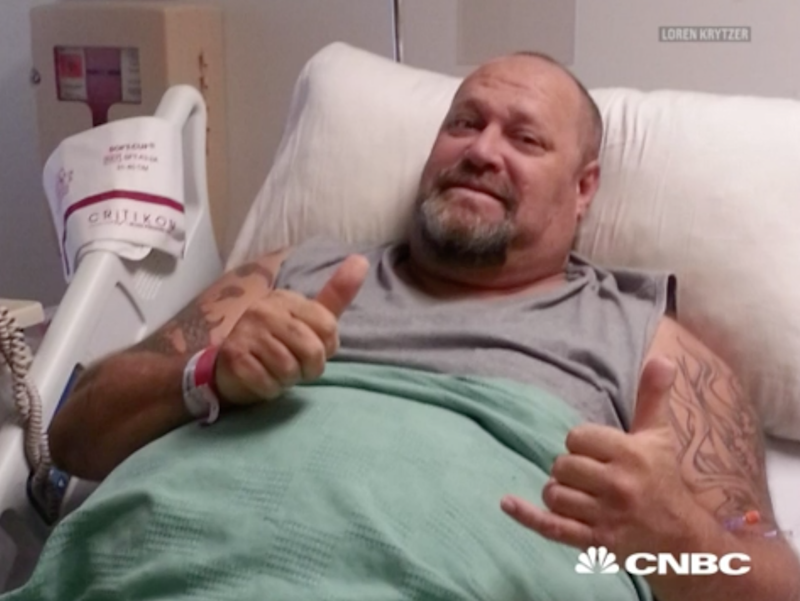 Loren was recovering from a near-fatal accident when a TV show changed his life. Photo: CNBC