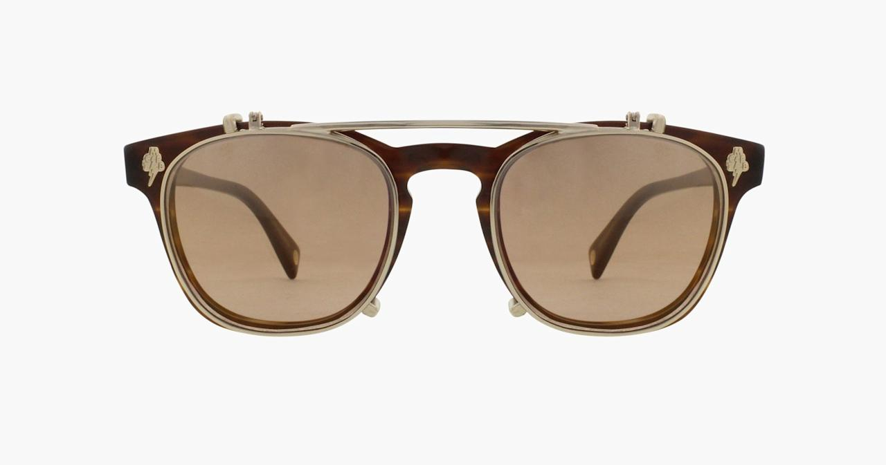 "<p>Designers are giving you more for your money, i.e. two pairs of glasses for one with a pair of clip-on frames. They take a regular pair of eyewear to a sun-deflecting pair in two seconds flat. How's that for versatility.</p><p><em>Garrett Leight x Mark McNairy Valdese Glasses, $395, <a rel=""nofollow"" href=""http://www.garrettleight.com/sunglasses/mark-mcnairy-valdese?mbid=synd_yahoostyle"">garrettleight.com</a></em></p>"