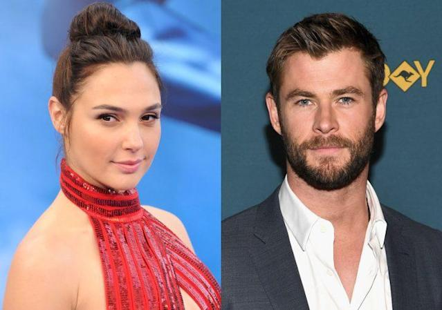 Gal Gadot and Chris Hemsworth are now both comic book movie gold. (Photo: Getty Images)