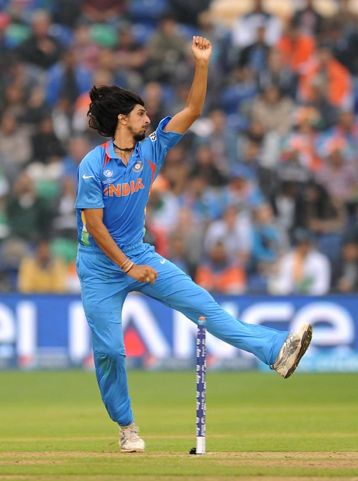 India's Ishant Sharma bowls during the ICC Champions Trophy, Semi Final at the SWALEC Stadium, Cardiff.