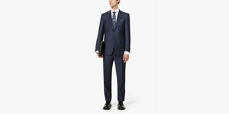 """<p>Money doesn't always mean a better suit. It helps. A lot, in fact. But time is just as important, especially if you're aiming for a men's suit under £500. Rush the decision (or forgo the wonders of a tailor), and you're bound to show up to the next big calendar event in something that's shiny and ill-fitting.</p><p>As with most things, but especially with tailoring, you get what you pay for. No item in a man's wardrobe is more complex, or easier to get wrong. Fit is key, of course, but so is style (do you go single- or double-breasted?), colour (safe navy or eye-catching bottle green?) and cut (trim and tight à la Fifties Don Draper, or loose and swinging, like Sixties Don Draper?). A bigger budget buys you access to the nimble fingers and baby-soft fabrics of Milan and <a href=""""https://www.esquire.com/uk/style/a31209353/savile-row-tailors/"""" rel=""""nofollow noopener"""" target=""""_blank"""" data-ylk=""""slk:Savile Row's finest tailors"""" class=""""link rapid-noclick-resp"""">Savile Row's finest tailors</a>. If you've only got £500 (or less) in your pocket, then for every great suit you can afford, there are 50 mass-produced, misshapen fire hazards.</p><p>There is a way, though, to keep a foot in both camps. Affordable suits which don't look so affordable do exist. In fact, they've all the charm of a big ticket two-piece without the necessary debt restructuring. Better yet, they'll leave enough spare change for that all important add-on: alteration. That's what makes good tailoring great (and is another reason why 'quickly' is great style's kryptonite). Our edit of the best suits under £500 is a very strong place to start indeed. </p>"""
