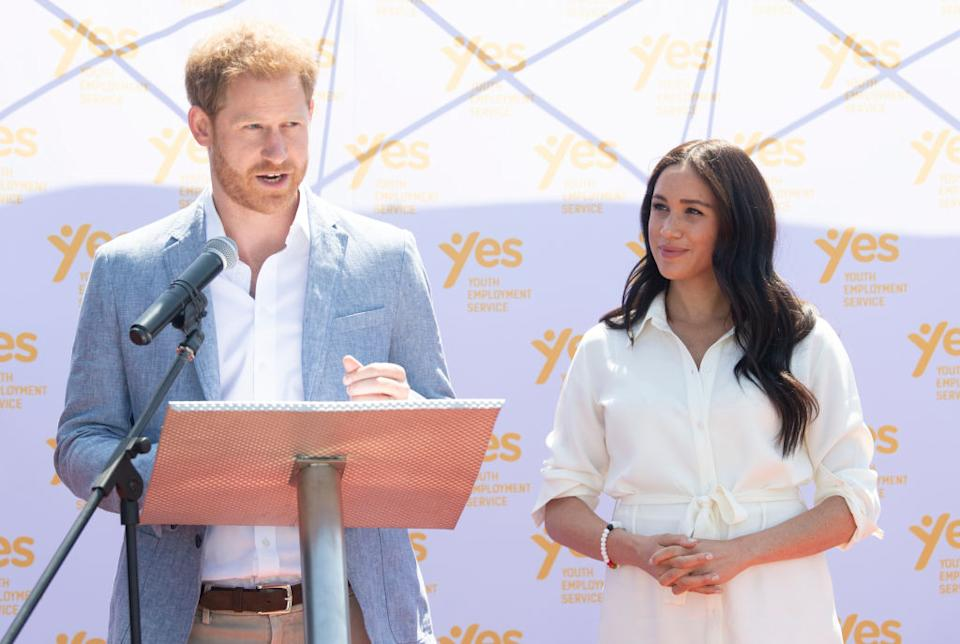 Prince Harry has issued a statement about his wife the Duchess of Sussex's treatment by certain publications in the British press [Photo: Getty]