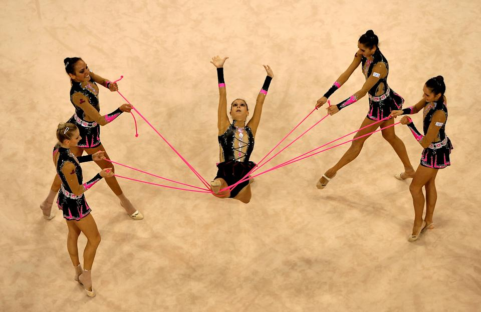 Competition at the Beijing Olympics.