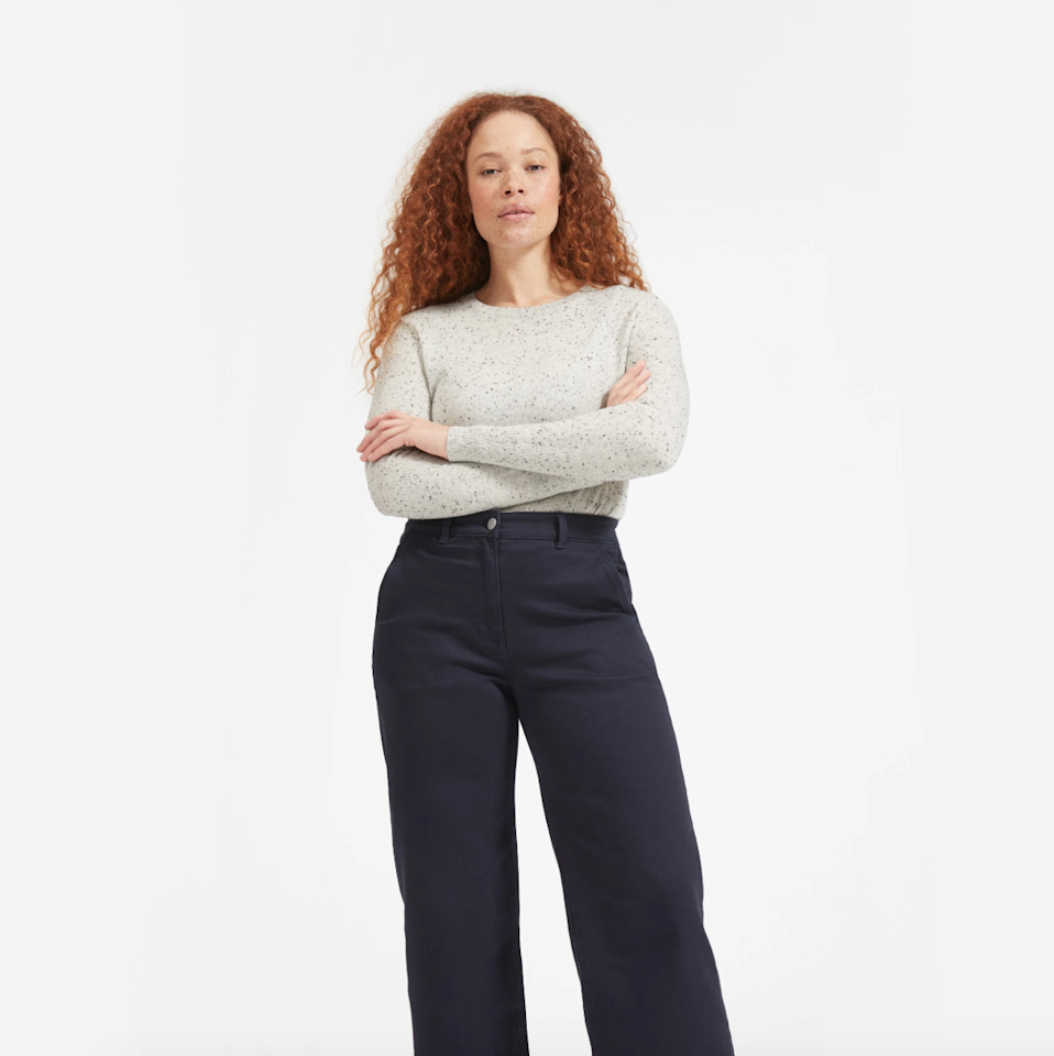 "$100, Everlane. <a href=""https://www.everlane.com/products/womens-cashmere-crew2-frostdonegal?collection=womens-sale"">Get it now!</a>"