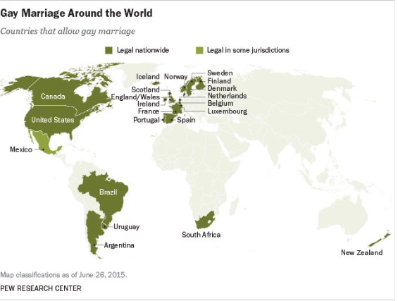 Samesex Marriage By Country All The Places Where Gay Marriage Is - Us gay marriage map