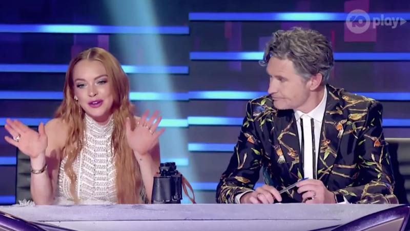 Lindsay Lohan asks Robot for furniture back