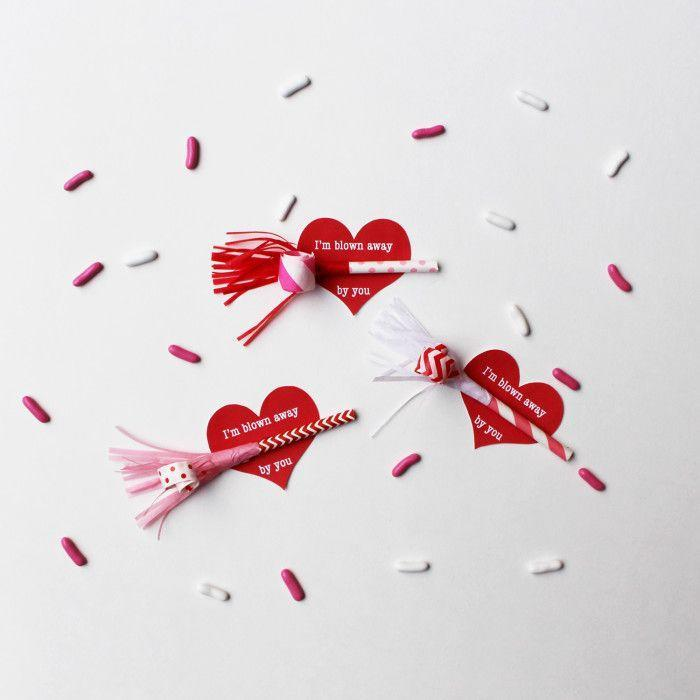 "<p>Make some noise for the one you love! And to really impress them with your word play, attach these cute little DIY party horns to cards that say ""I'm blown away by you.""</p><p><strong>See more at <a href=""http://www.ajoyfulriot.com/?s=valentine%27s+day+card"" rel=""nofollow noopener"" target=""_blank"" data-ylk=""slk:A Joyful Riot"" class=""link rapid-noclick-resp"">A Joyful Riot</a>.</strong></p><p><a class=""link rapid-noclick-resp"" href=""https://go.redirectingat.com?id=74968X1596630&url=https%3A%2F%2Fwww.walmart.com%2Fip%2F50-Light-Pink-and-White-Stripe-Paper-Straws%2F296404460&sref=https%3A%2F%2Fwww.thepioneerwoman.com%2Fhome-lifestyle%2Fcrafts-diy%2Fg35084525%2Fdiy-valentines-day-cards%2F"" rel=""nofollow noopener"" target=""_blank"" data-ylk=""slk:SHOP PAPER STRAWS"">SHOP PAPER STRAWS</a></p>"