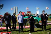 Protest against Brazil's President Jair Bolsonaro in front of the National Congress, amid the coronavirus disease (COVID-19) outbreak, in Brasilia