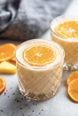 """<p>Looking for something with a citrus kick? With ingredients like pineapple, orange, and banana, this smoothie has just that. (Pro tip: Add a touch of yogurt for extra creaminess.) </p><p><em>Per serving: 236 cals, 4.1 g fat, 46.1 g carbs, 30.4 g sugar, 3.6 g fiber, 8.7 g protein</em></p><p><a class=""""link rapid-noclick-resp"""" href=""""https://getinspiredeveryday.com/food/pineapple-orange-banana-smoothie/"""" rel=""""nofollow noopener"""" target=""""_blank"""" data-ylk=""""slk:Get the recipe"""">Get the recipe</a><em><br></em></p>"""