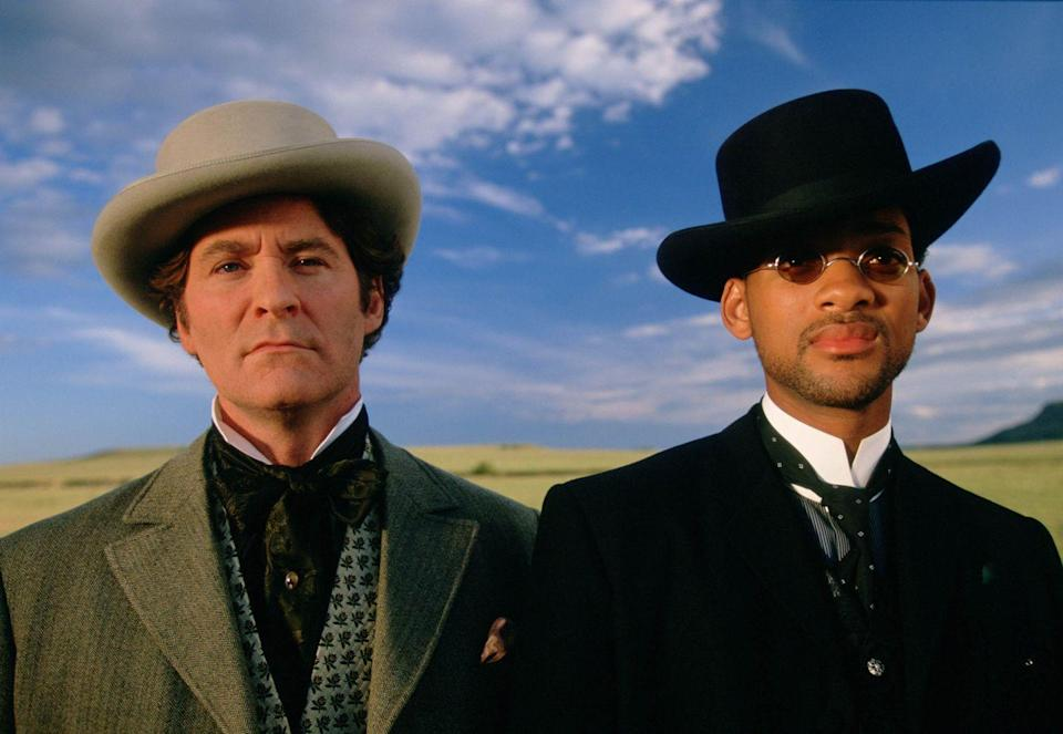 <p>Will Smith as Captain James West and Kevin Kline as US Marshal Artemus Gordon in the film <em>Wild Wild West</em>, 1998.</p>