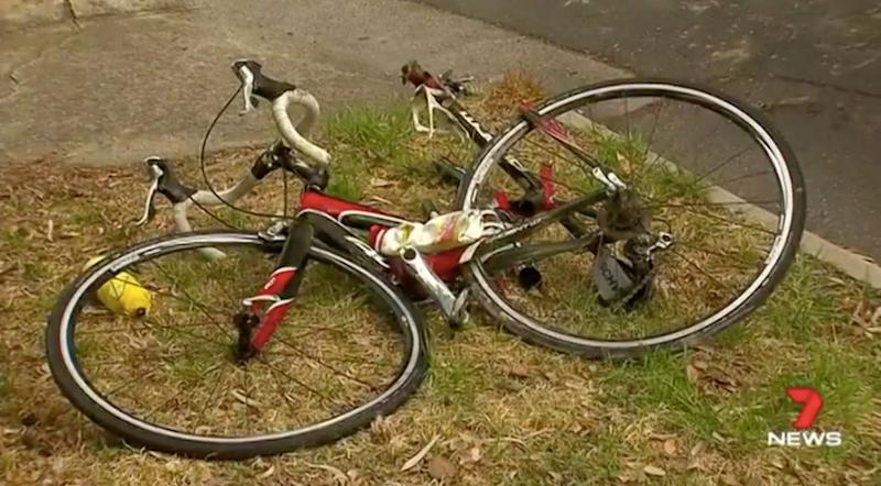 The cyclist is in critical condition in hospital. Source: 7 News