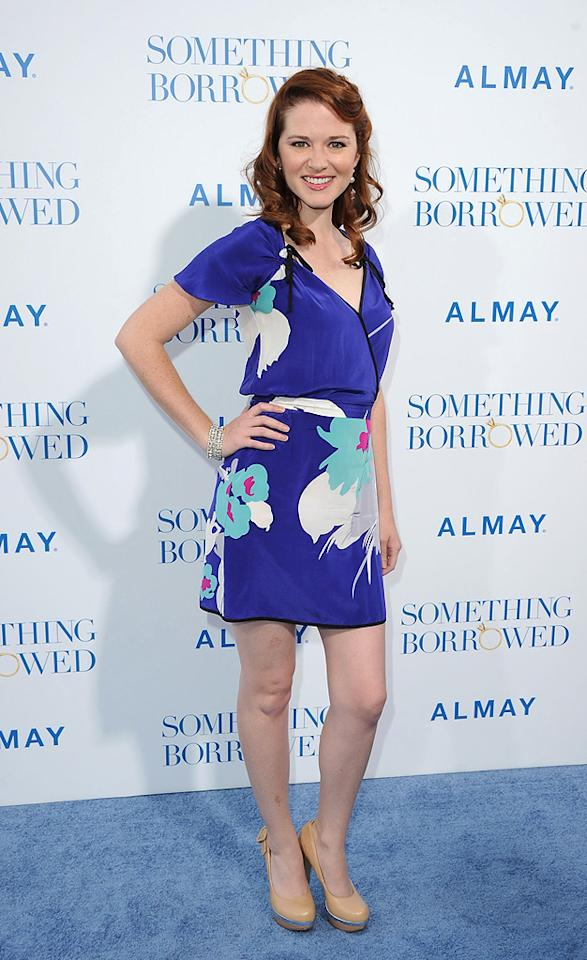 """<a href=""""http://movies.yahoo.com/movie/contributor/1804705896"""">Sarah Drew</a> attends the Los Angeles premiere of <a href=""""http://movies.yahoo.com/movie/1810158033/info"""">Something Borrowed</a> on May 3, 2011."""