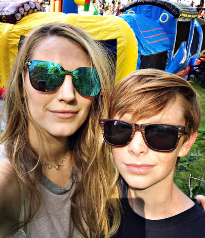 """<p>The sunny blonde must have really shown her nephew Baylen Johnson a good time, because despite their dispassionate faces, she captioned this pic of the two of them, """"Party animals."""" (Photo: <a rel=""""nofollow noopener"""" href=""""https://www.instagram.com/p/BWJvoOPAH9O/?taken-by=blakelively&hl=en"""" target=""""_blank"""" data-ylk=""""slk:Blake Lively via Instagram"""" class=""""link rapid-noclick-resp"""">Blake Lively via Instagram</a>) </p>"""