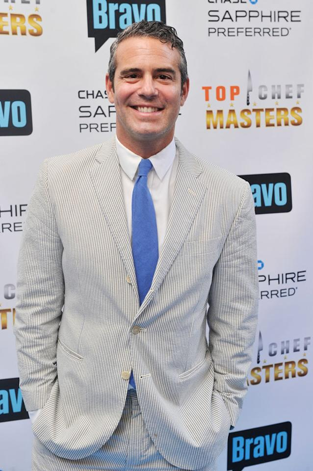 "Andy Cohen attends the ""Top Chef Masters"" Season 5 Premiere Tasting Event presented by Chase Sapphire Preferred at 82 Mercer on Tuesday, July 16, 2013 in New York."