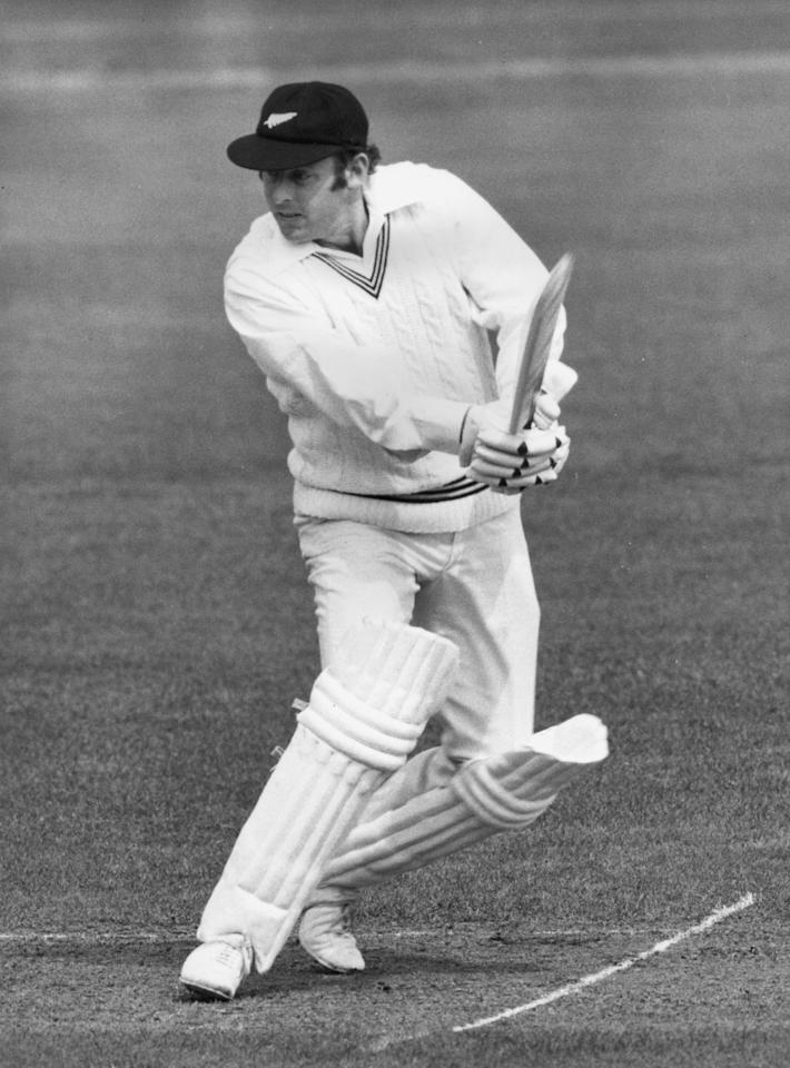 27th April 1973:  New Zealand batsman Brian Hastings at the crease.  (Photo by Dennis Oulds/Central Press/Getty Images)