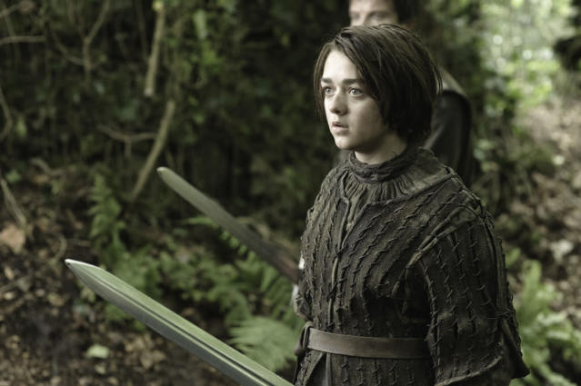 "Maisie Williams in the ""Game of Thrones"" Season 3 episode, ""Dark Wings, Dark Words."""