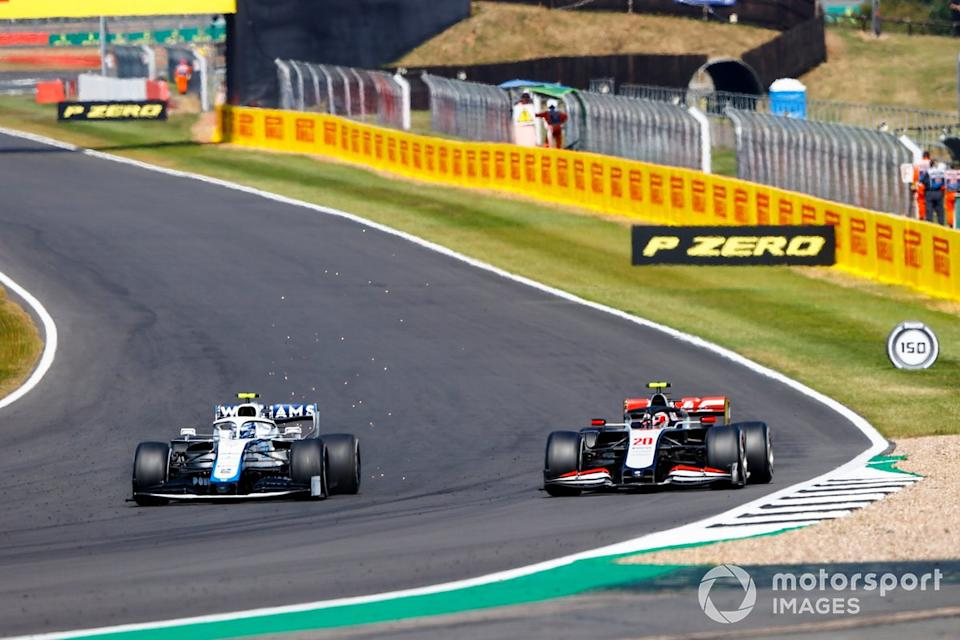 "Nicholas Latifi, Williams FW43, Kevin Magnussen, Haas VF-20<span class=""copyright"">Andy Hone / Motorsport Images</span>"