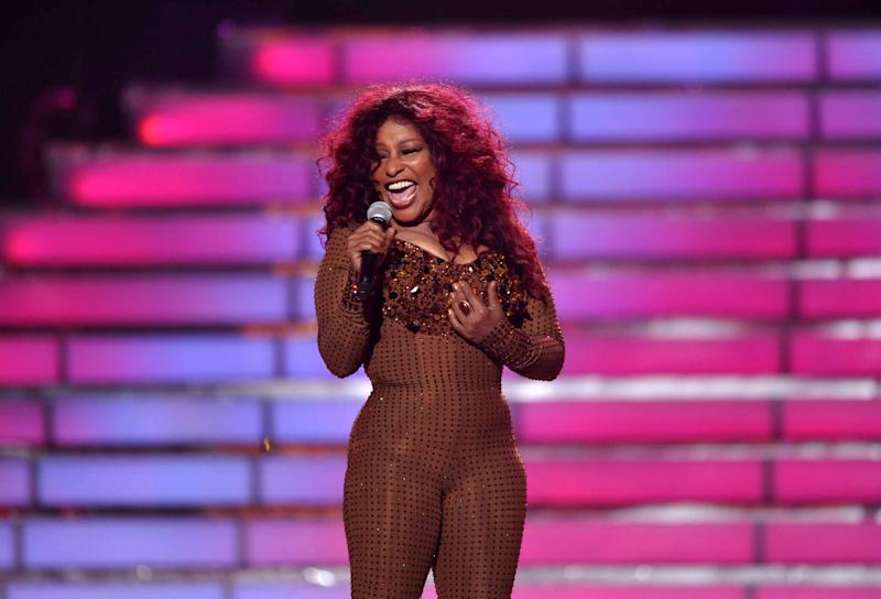 Chaka Khan performs onstage at the American Idol Finale on Wednesday, May 23, 2012 in Los Angeles. (Photo by John Shearer/Invision/AP)