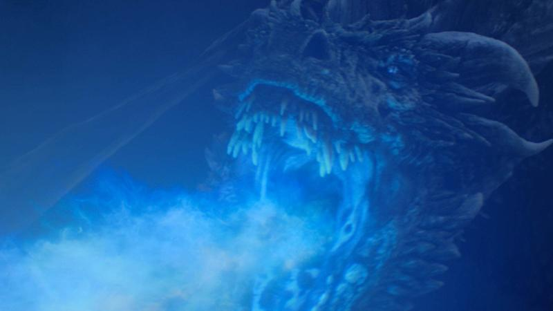 Ice dragon Viserion in Game of Thrones, The Long Night. (PHOTO: HBO)