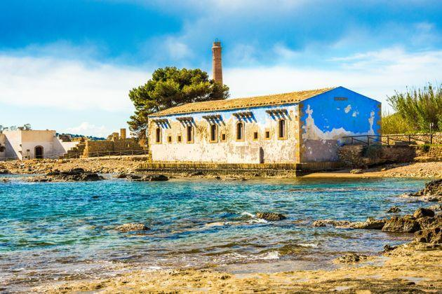 Noto, Italy - April 2017: the old tuna factory (