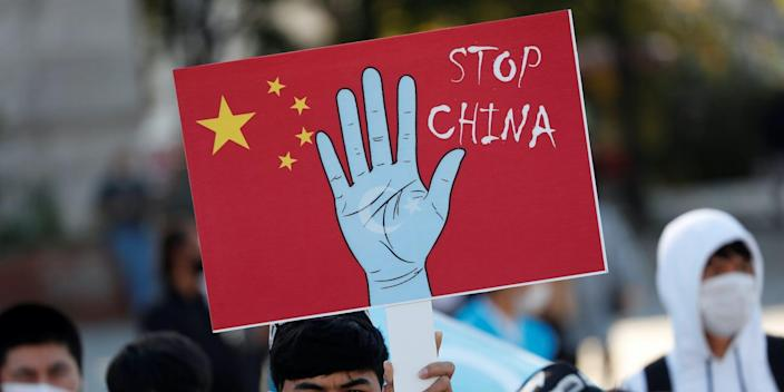 uighur protest china