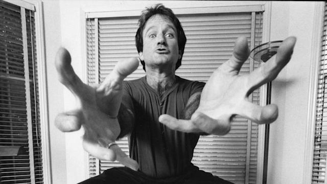 Robin Williams in Marina Zenovich's <i>Robin Williams: Come Inside My Mind</i>. (Photo courtesy of Sundance Institute)