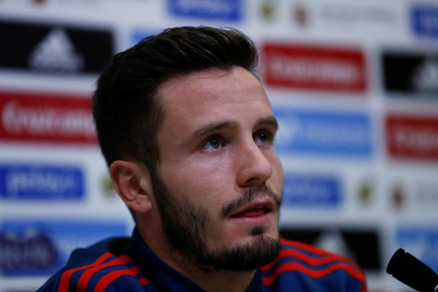 Soccer Football - Spain Press Conference - Las Rozas, Spain - March 24, 2018 Spain's Saul Niguez during the press conference REUTERS/Juan Medina