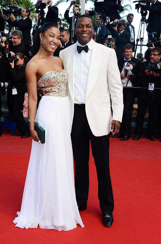 CANNES, FRANCE - MAY 21:  Actor Chris Tucker and guest attends the 'Cleopatra' premiere during The 66th Annual Cannes Film Festival at The 60th Anniversary Theatre on May 21, 2013 in Cannes, France.  (Photo by Pascal Le Segretain/Getty Images)