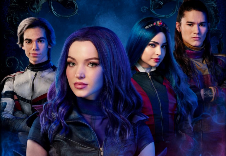 Cameron Boyce, Dove Cameron, Sofia Carson and Booboo Stewart in Descendants 3. (Disney Channel)