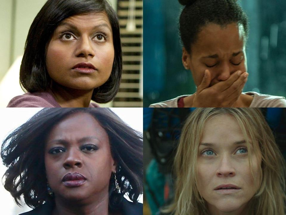 Mindy Kaling, Kerry Washington, Viola Davis and Reese Witherspoon all found photos of themselves from movie and TV roles to include in a 2020 meme.