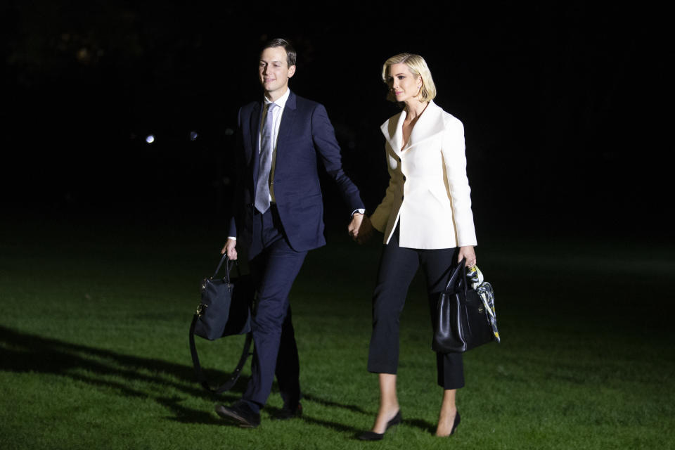 Ivanka Trump and Jared Kushner joined President Trump during a trip to Texas. [Photo: PA]